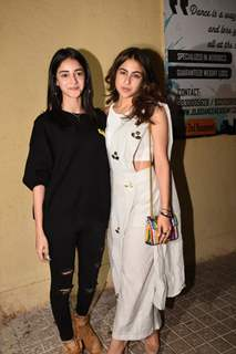 Sara Ali Khan and Ananya Panday at Sonchiriya special screening