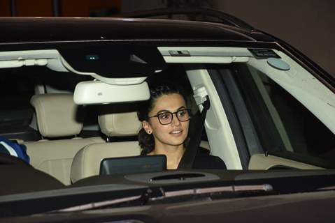Taapsee Pannu at the screening of Badla!