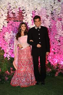 Jeetendra and Ekta Kapoor at Ambani Wedding!