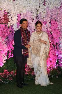 Rekha and Manish Malhotra at Ambani Wedding!