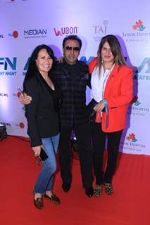 Ayesha Shroff and Gulshan Grover at Matrix Fight night!