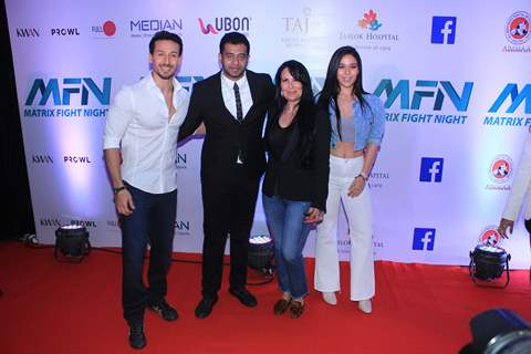 Tiger Shroff, Krishna Shroff and Ayesha Shroff at Matrix Fight night