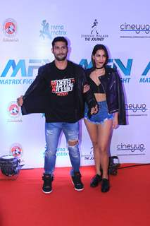 Prateik Babbar and Sanya Sagar at Matrix Fight night