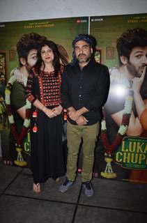 Pankaj Tripathi snapped at the Luka Chuppi success bash!