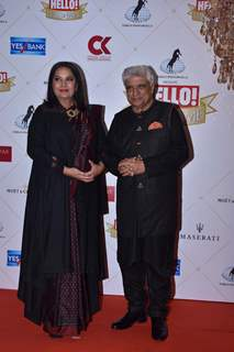 Javed Akhtar and Shabana Azmi at the Hello Hall of fame awards!