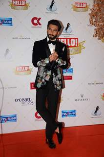 Ranveer Singh at the Hello Hall of fame awards!
