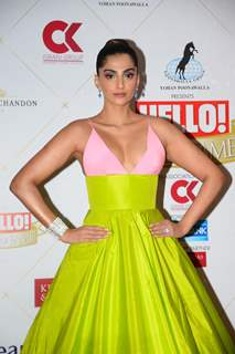 Sonam Kapoor at the Hello Hall of fame awards!