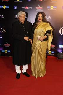 Javed Akhtar with Shabana Azmi snapped at Critics Choice Film Awards!