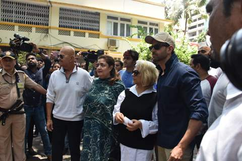 Hrithik Roshan and his family snapped outside polling centre!