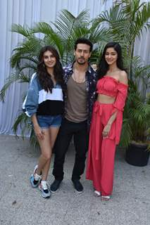 Tara Sutaria, Tiger Shroff and Ananya Panday at the promotions of Student of the Year 2