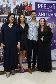 Keith Sequeira and Rochelle Rao snapped with Soni Razdan at the launch of Reel or Real season 3