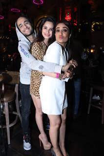 Vikas ,China, Surbhi Jyoti snapped at Anita Hassanandani and Pearl Puri's song launch