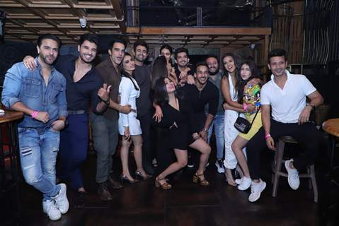 The celebrities gang snapped at Anita Hassanandani and Pearl Puri's song launch
