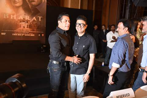 Salman Khan with Bhushan Kumar snapped at Bharat song launch