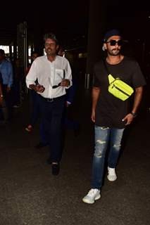 Kapil Dev and Ranveer Singh spotted around the town