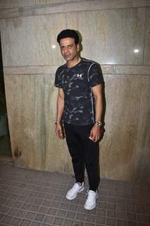 Manoj Bajpai snapped at special screening of India's Most Wanted.