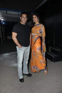 Salman Khan with Katrina Kaif snapped at the promotions of Bharat