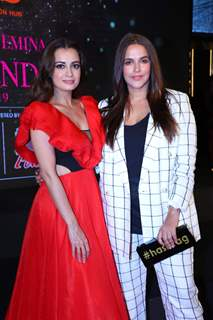 Dia Mirza with Neha Dhupia spotted at Miss India 2019 curtain raiser