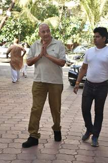 Prem Chopra at Veeru Devgan prayer meet