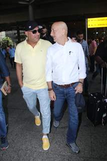 Ronnie Screwvala and Anupam Kher spotted around the town