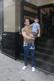 Tusshar Kapoor with son Laksshya Kapoor at his birthday party