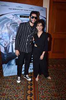 Siddhant Chaturvedi was snapped with Sanya Malhotra during the promotions of Men In Black International