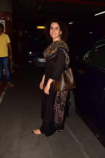 Sanya Malhotra was spotted around the town