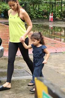 Mira Rajput Kapoor snapped with daughter Misha at the gym