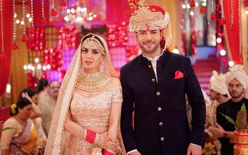 Sanjay Gagnani and Shraddha Arya during their on-going marriage sequence in Kundali Bhagya