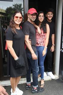 Ronit Roy spotted along with family outside Bastian!