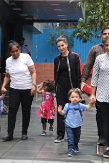 Sunny Leone spotted with her kids!