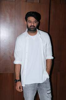 Prabhas snapped during the promotions of Saaho