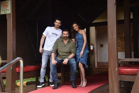 Karan Deol and Kallirroi Tziafeta at the promotions of Pal Pal Dil Ke Paas!