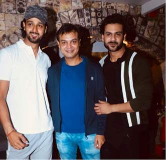 Siddharth Kumar Tewary with Sourabh Raaj Jain and Vishal Aditya Singh