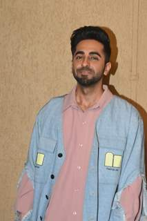 Ayushmann Khurrana and Nushrat Bharucha at the promotions of Dream Girl!