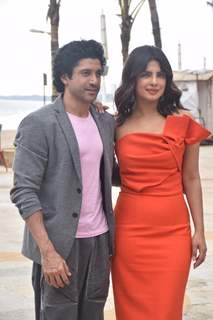 Priyanka Chopra and Farhan Akhtar at the promotions of The Sky is Pink!