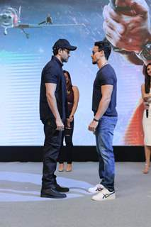 Hrithik Roshan and Tiger Shroff at the WAR success bash!