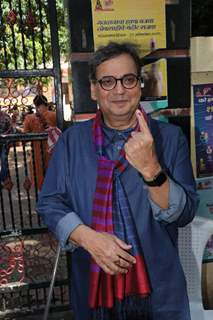Subhash Ghai casts his vote
