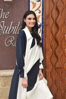 Athiya Shetty at the promotions of Motichur Chaknachur!