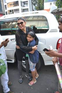 Sushmita Sen papped with her daughter Alisah around the town