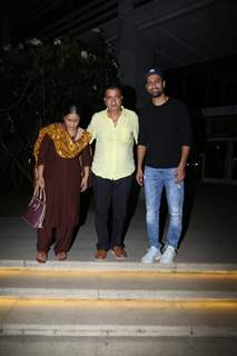 Vicky Kaushal papped with his parents around the town