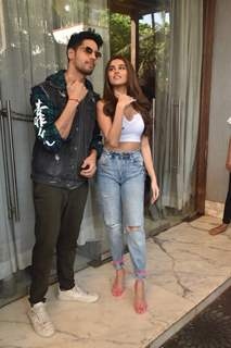 Sidharth Malhotra and Tara Sutaria spotted during the promotions of Marjaavaan