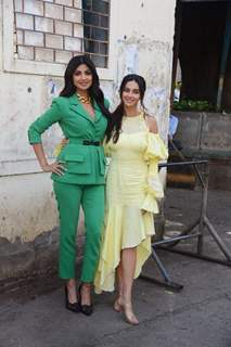 Shilpa Shetty and Shibani Dandekar