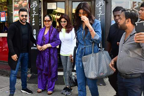 The Shetty family papped around the town