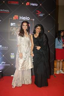 Dia Mirza and Konkona Sen Sharmapapped at MTV Digital Awards