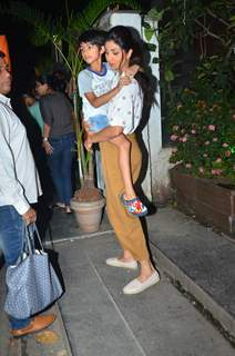 Shilpa Shetty papped around the town with her son