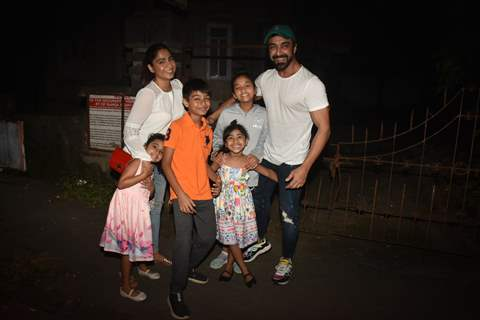 Aashish Chaudhary and his family papped around the town