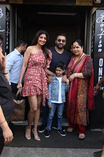 Shilpa Shetty and her family papped around the town