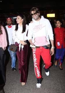 Manish Paul and Jacqueline Fernandez papped at the airport