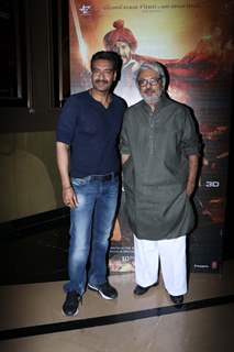 Ajay Devgn and Sanjay Leela Bhansali papped at the special preview of Tanhaji: The Unsung Warrior